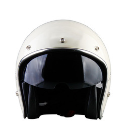 ECE Approval White and BlackHalf Face Helmet for Motorcycle