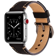 Genuine Leather Watch band Strap for apple watch series1 2 3 4 44mm 40mm