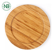 Top quality handmade serving plate bamboo wooden pizza plate