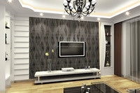 Home decoration 3D Effect cahaya warna kuning wallpaper
