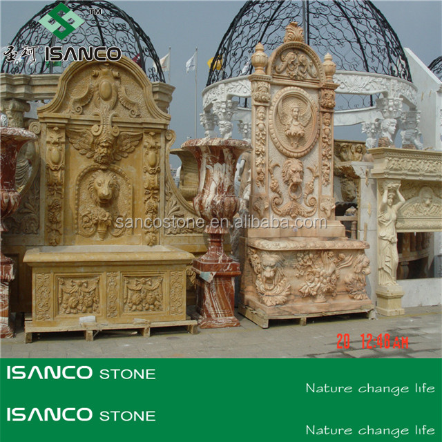 polishing marble stone status outdoor decorative wall fountains