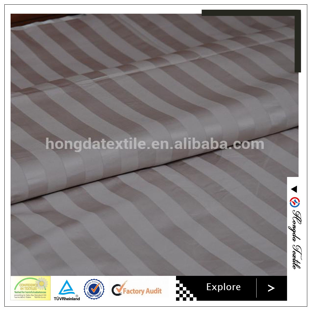 luxury hotel bed linen stripe egyptian cotton fabric in roll home textile