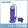 QW/WQ series stainless steel no clogging submersible sump pump
