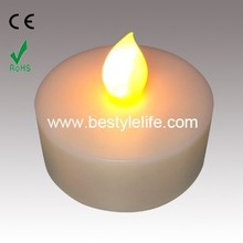 Waterproof white amber flicker electronic tea light candles