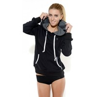 Unisex cotton hoodie sweatshirts with rhinestones YKK zippers
