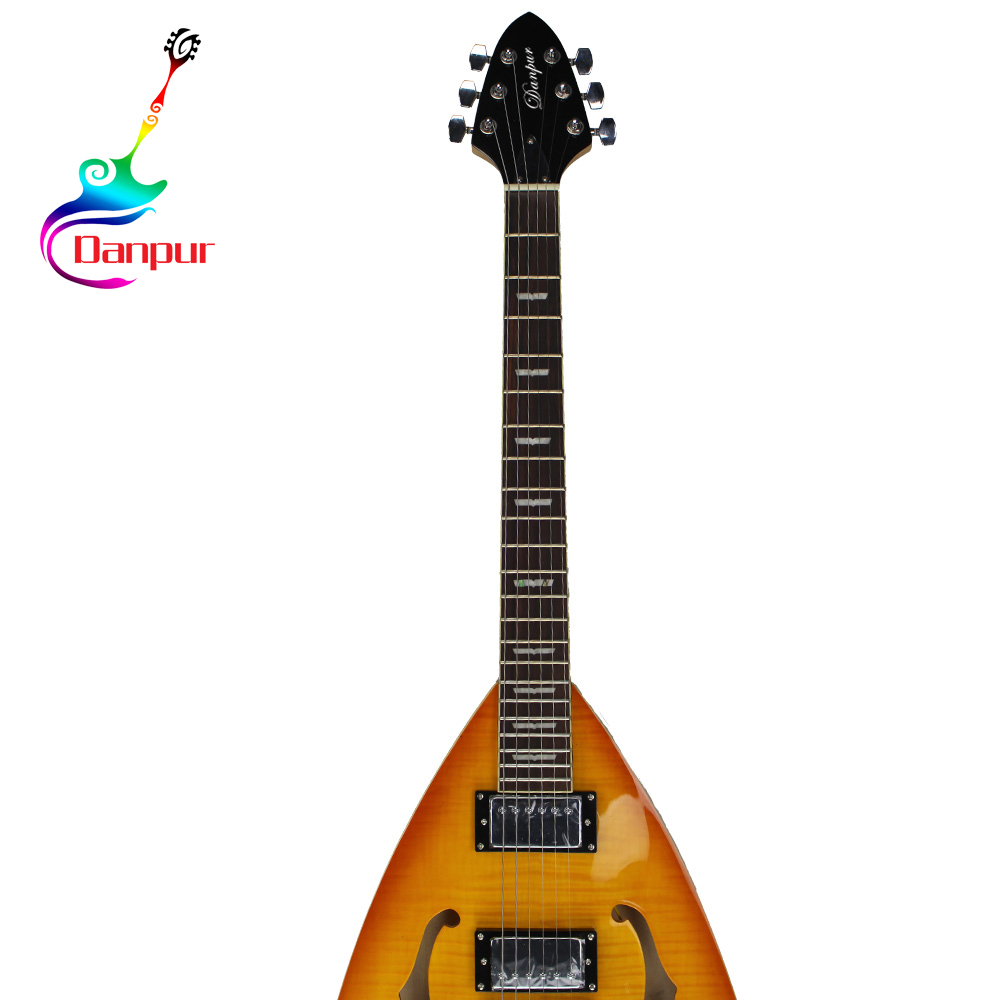 Danpur heterogeneous shape semi hollow body electric guitar