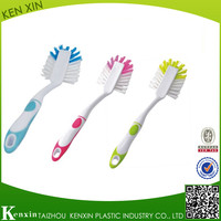 High quality rubber handle plastic pot brush/cleaning brush