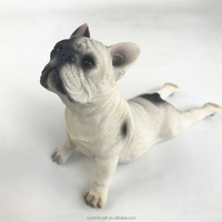 Hand Paint resin cute adorable collectable french bulldog figure