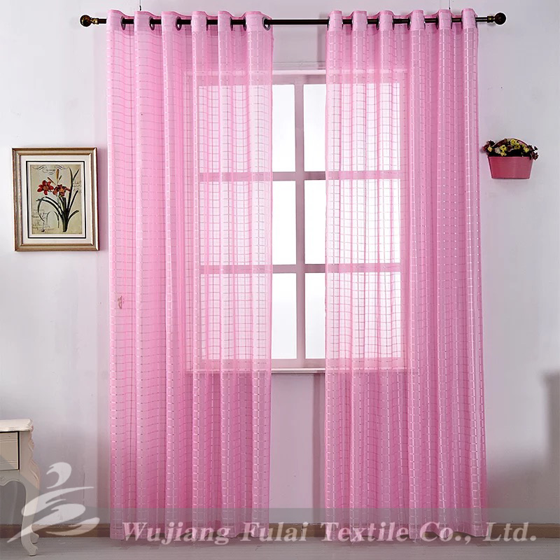 Free Samples sheer curtain screen fabric polyester voile best quality