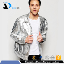 Daijun oem best quality men windproof fashion men silver dance jacket