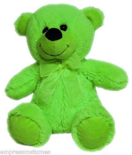 Plush Toy Teddy Bear Jelly Lime Green 30cm Baby Shower Christmas Gift