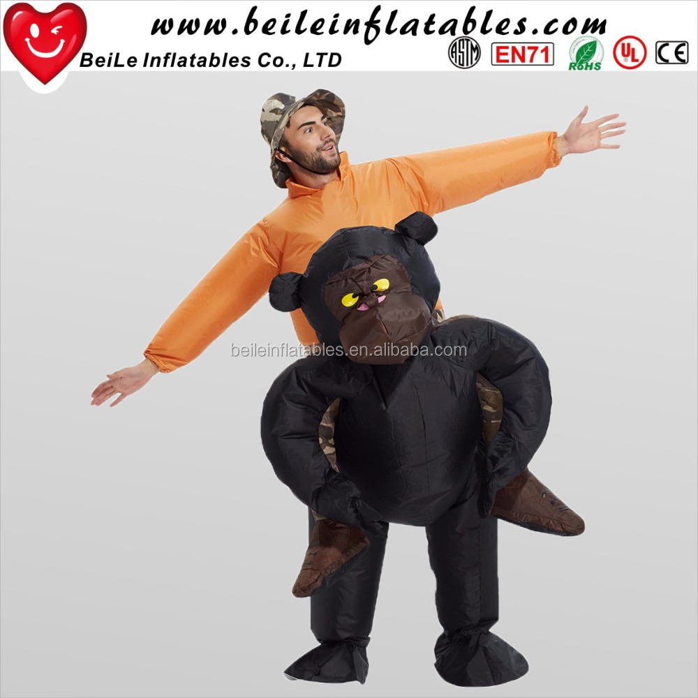 Advertising inflatable chimpanzee and advertising inflatable animal costume