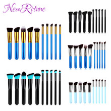wholesale Cheap Colorful Makeup Tools 10 Pcs White Custom Makeup Brush Set