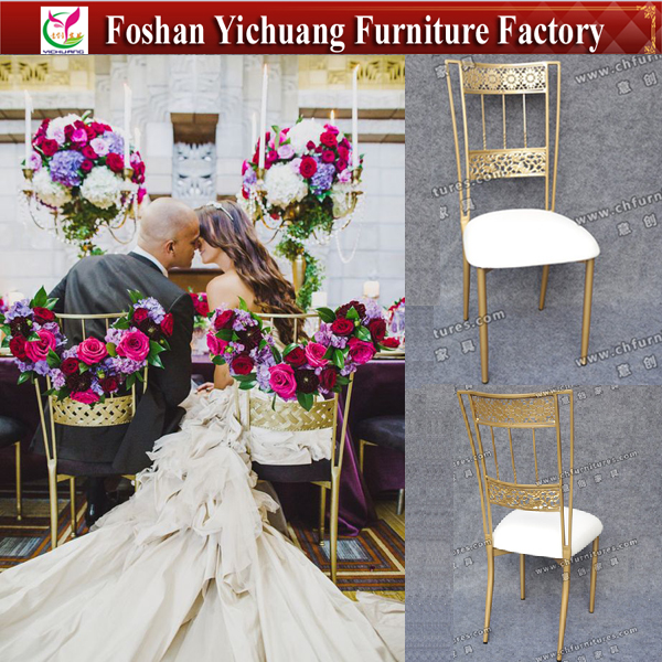 Guangdong Foshan Rose Gold Fancy Bella Wrought Iron Wedding Chair YC-A277