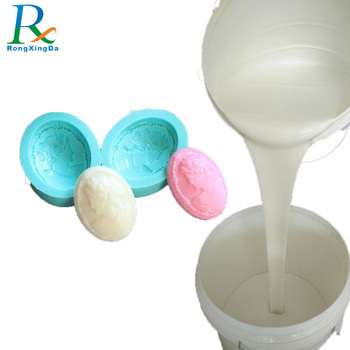 Free sample not emit oil  rtv2 liquid silicone rubber to make soap mold