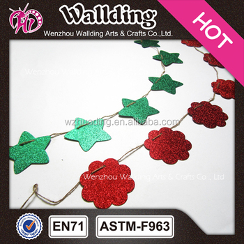 colorful christmas paper flower garland