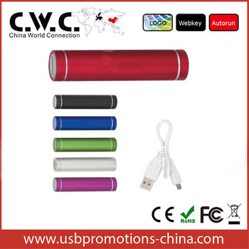 Hot New Products For 2014 Mobile Power Bank 2200/2600MAH Tube Cylinder Shape Power Bank Battery charger