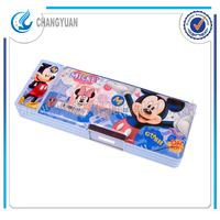(CY6341) Approved EN71/6P stationary Double open side pencil case