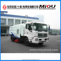 Dongfeng small street sweeper car 4x2 truck mounted road sweeper