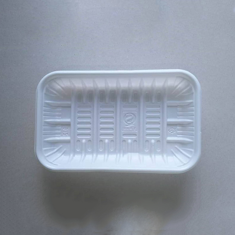Oem Fruit Blister Disposable Flat Rectangle Packing Pp White Plastic Strawberry Tray
