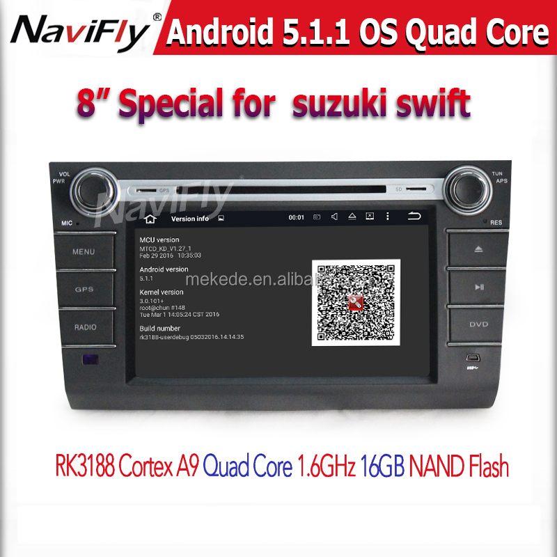 "HD 1024*600 8"" Quad Core Android 5.1 suzuki swift 2004 2005 2006 2007 2008 2009 2010 Car Audio Multimedia player"