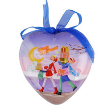 christmas promotional gift full printing heart shaped foam christmas decoration