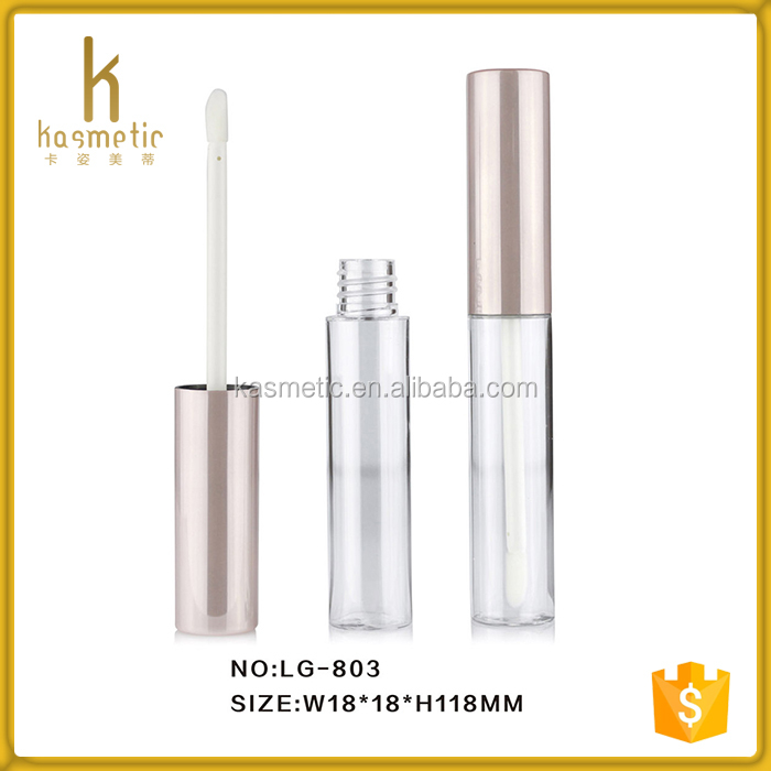 Wholesale pink cosmetic lip gloss packaging tube for young girl