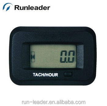 Runleader Waterproof Digital RPM Tachometer Hour Meter For ATV Mower Snowmobile Compressor Cutter Marine Tractor Glider