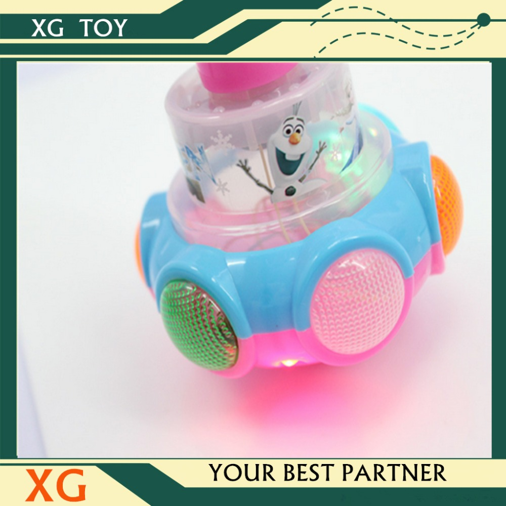plastic cartoon spinning top toy for kids toys promotional spinning top toy