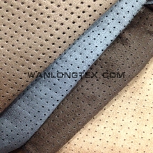 fabric for car seats, punched hole suede boned with foam for car seat fabric