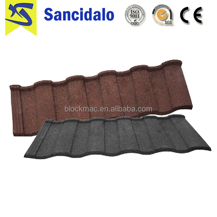 Comfortable new design cheap price kerala stone coated metal roof tile with long life