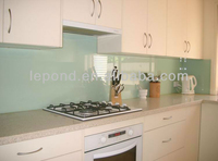 kitchen splash painting glass