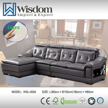 Modern Simple Design Leather Office Settee Home Furniture