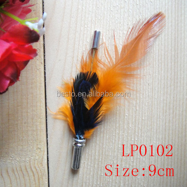 LP0099 Costume party fashion feather lapel pin