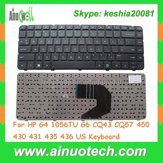 Hottest laptop keyboard for HP G6 G4 CQ43 CQ57 450 430 431 435 436 1056TU for hp laptop backlit keyboard US
