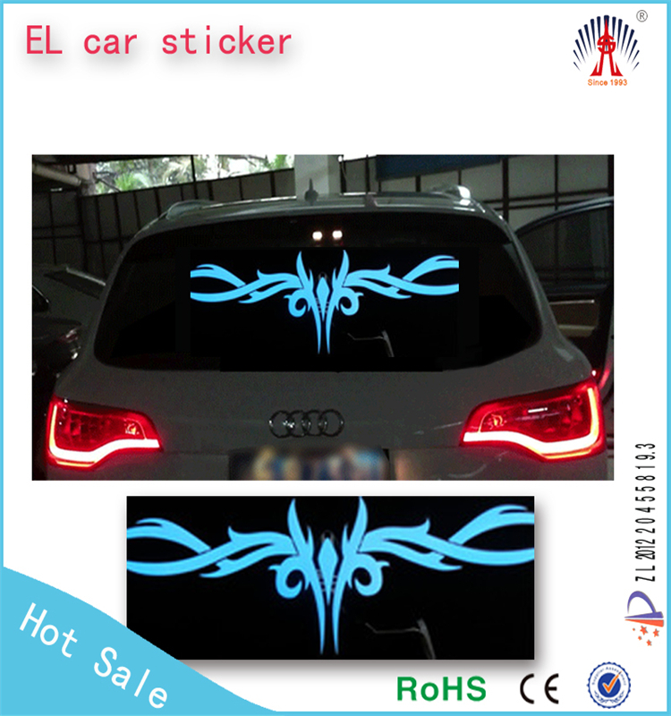 Sound activated equalizer led auto sticker/equalizer led auto sticker/ el equalizer