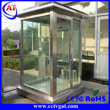 CE approval stainless steel plate Light steel flexible structural guard shelter / guard office