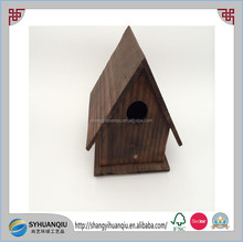 Eco-friendly cheap new unfinished wooden carved bird house wholesale