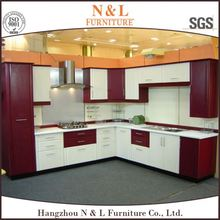 Experienced Manufacture Kitchen Design Modern Style White High Gloss PVC Film Finish Kitchen Cabinet,kitchen