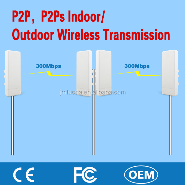 Todaair High Power 300Mbps 10km wireless transmitter Indoor Outdoor AP Router outdoor Bridge for Network Transceiver Coverage