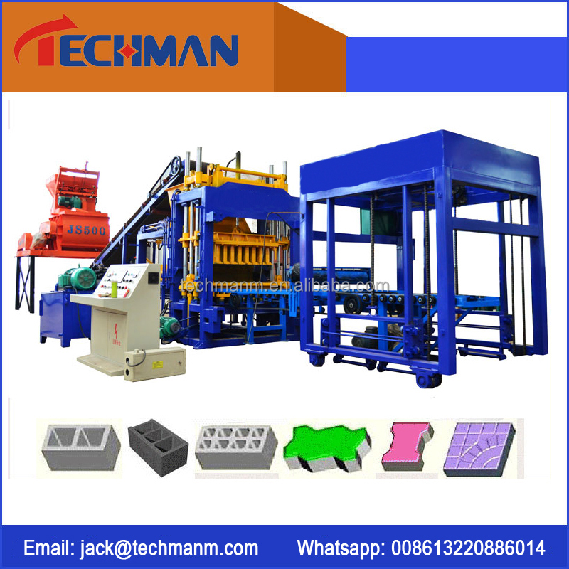 QT5-15 Multi-function block making machine brick machine concrete interlock paver brick making machine hollow block machi