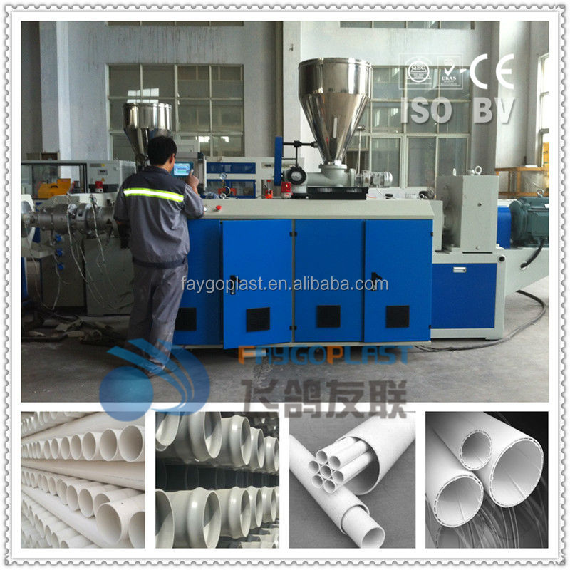 20-160mm PVC drain pipe extrusion line/machine/equipment/plant for sale