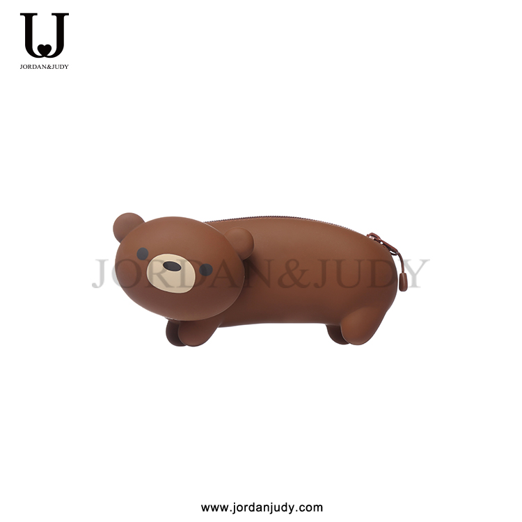 Cartoon silicone pencil bag/bear shape pencil bag