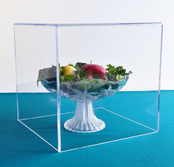 5 Sided Acrylic Display Cube Large Clear Acrylic Shell Clear Acrylic Cover
