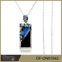Fashion Modeling Jewelry Designs Silver Plated Necklace Women Imitation Jewellery