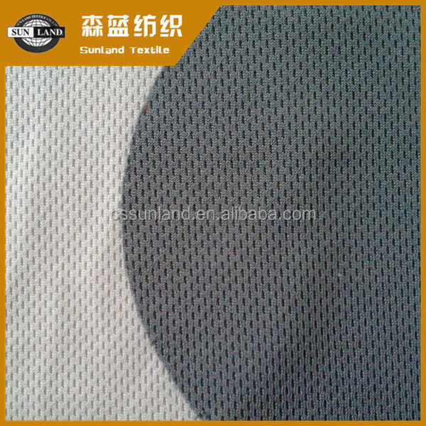 100% polyester wick no hole mesh farbic for cycling cloth