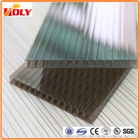 UV protection plastic sheet hollow polycarbonate sunrooms
