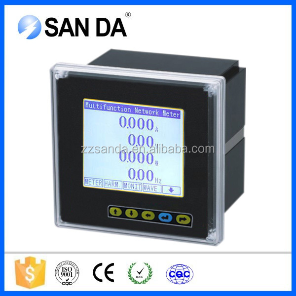 Panel mounted electrical meter , electrical multifunction meter LCD (SD994Z-9SY)