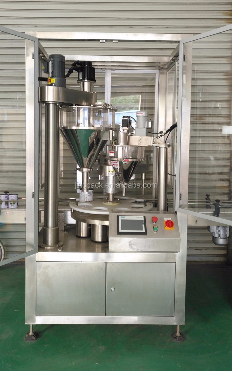 Can Tin Two step auger filler automatic filling machine