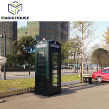 Green call booth metal phone booth outdoor telephone booth